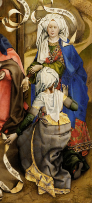 Робер Кампен. Рождение Христа. Фрагмент: Саломея