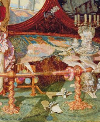 William Holman Hunt. Sorceress Shallot (fragment)