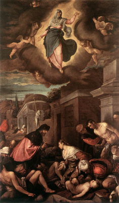 Jacopo da Ponte Bassano. Plague victims