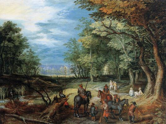 Jan Bruegel The Elder. Waiting in the woods