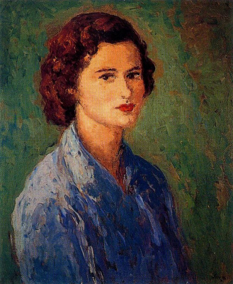 Arturo Souto. The lady in the blue blouse