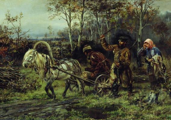Илларион Михайлович Прянишников. Порубка. 1874