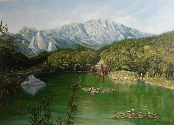 Nadezhda Nikolaevna Kravtsova. Crimea. Shaan Kaya Lake