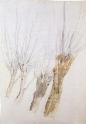 Edgar Degas. Four willows
