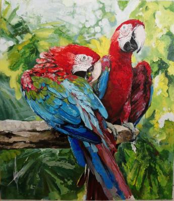 Olga Shatskaya. Bright birds