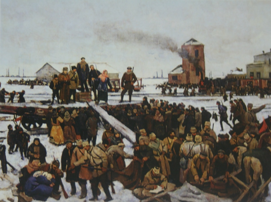 "Yuon Fedorovich Konstantin. ""Meeting at the railway station. Sketch »Memorial Museum-Estate of N. A. Yaroshenko, Kislovodsk"