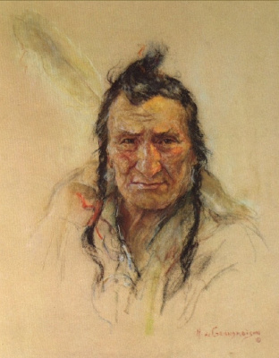 Николас де Гранмезон. Индейский портрет 60