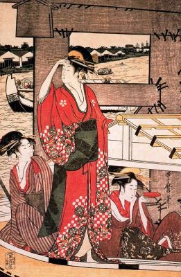 Kitagawa Utamaro. Fresh wind under the bridge to Ryogoku