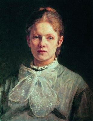 Ilya Efimovich Repin. Portrait of S. A. Repina, nee Shevtsova