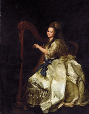 Dmitry Grigorievich Levitsky. Portrait of the pupils of the Imperial educational society for noble maidens, Glafira Ivanovna Alymova