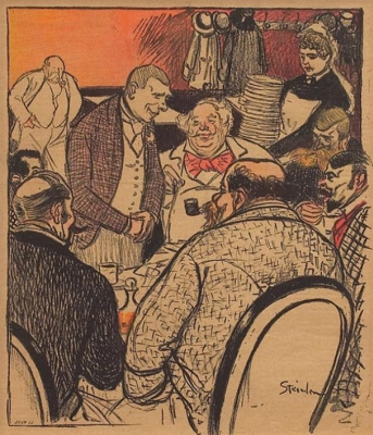 Theophile-Alexander Steinlen. The coin would...