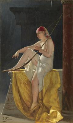 Луис Рикардо Фалеро. Египетская женщина с арфой