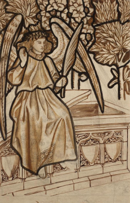 William Morris. Angel of the Resurrection. The project for the stained glass window