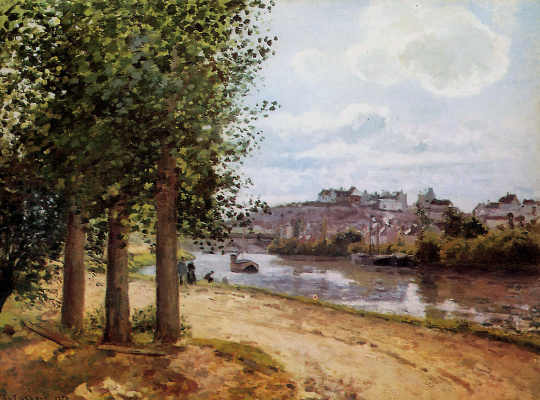 Camille Pissarro. PONTOISE on the banks of the Oise