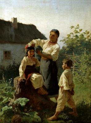 Konstantin Aleksandrovich Trutovsky. Put a wreath