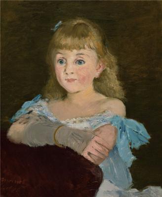 Edouard Manet. Portrait Of Lina Campineanu