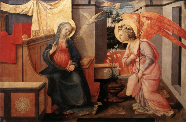 Fra Filippo Lippi. The Annunciation Of Mary