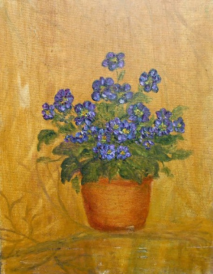 "Rita Arkadievna Beckman. ""Buy violets, here is a bunch of purple ..."""