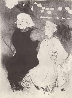 "Henri de Toulouse-Lautrec. In ""Moulin Rouge"", French-Russian fraternization"