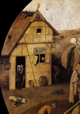 Hieronymus Bosch. The prodigal son. Fragment