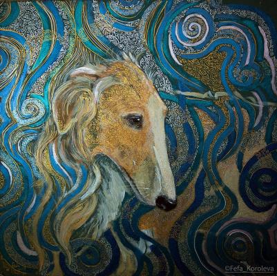 Fefa Koroleva. Turquoise mood. acrylic