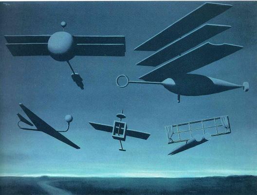 René Magritte. Black flag