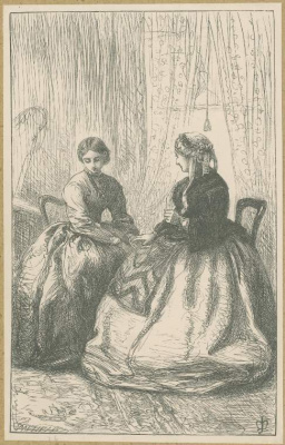 """John Everett Millais. """"Never say too much..."""". Illustration for the works of Anthony Trollope"""