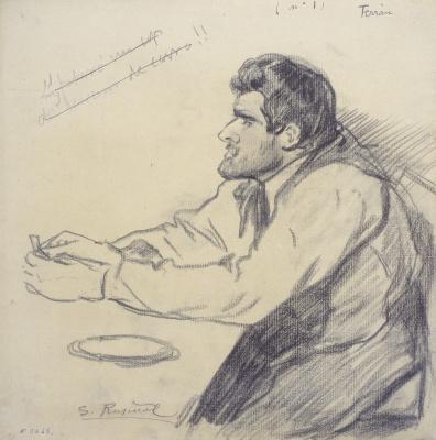 Santiago Rusignol. Portrait of Pere Ferran