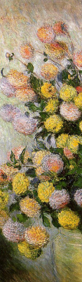 Claude Monet. Vase of dahlias
