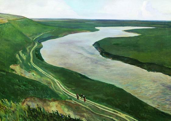 Alexander Alexandrovich Deineka. At Kursk. River Tuskor