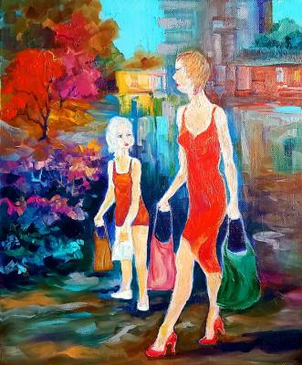Valentin Nikolaevich Sudnitsyn. Mom and daughter
