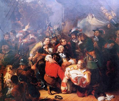 Николас Пиенеман. Адмирал де Рейтер смертельно ранен