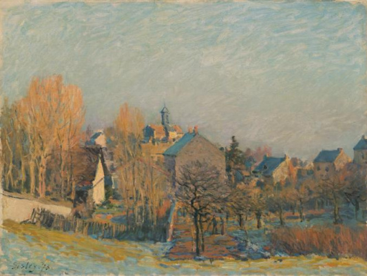 Alfred Sisley. Frost in Louveciennes