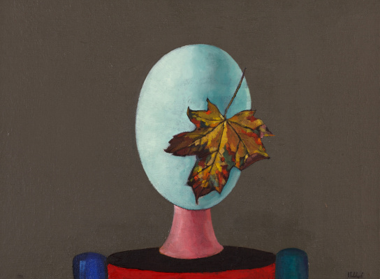 "Victor Dmitrievich Pivovarov. Eidos with autumn leaf. Cycle ""Immortals"""