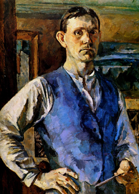 Sergey Vasilyevich Gerasimov. Self portrait in blue vest