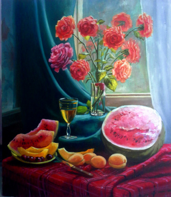 Olga Suncheleeva. Still-life with roses