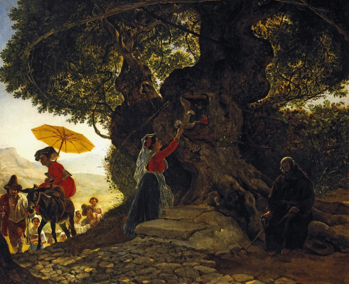 Karl Pavlovich Bryullov. At our lady of the oak