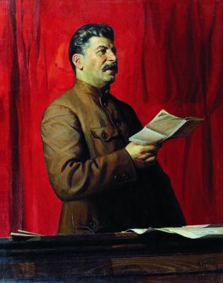 Исаак Израилевич Бродский. Портрет И.В. Сталина