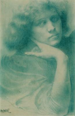 Jean Delville. Portrait of Madame Delville