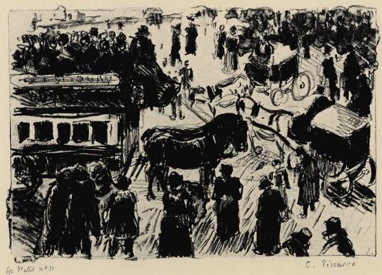 Camille Pissarro. Le Havre area in Paris