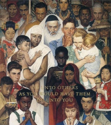 "The Golden rule. Do unto others as you want done to you. Cover of ""The Saturday Evening Post"" (April 1, 1961)"