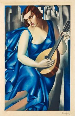 Тамара Лемпицка. Женщина с мандолиной (La Musicienne)