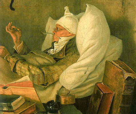 Karl Spitzweg. The poor poet. Fragment