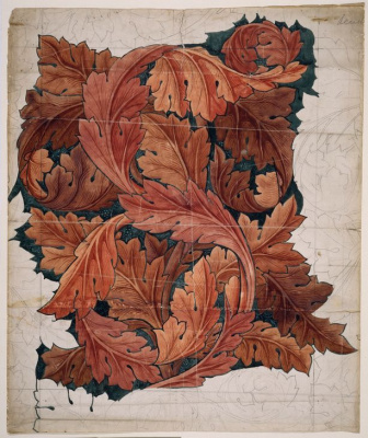 William Morris. Akant (Akanf). Design for fabric