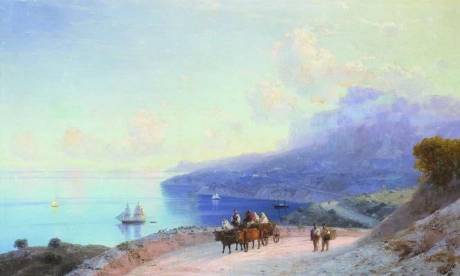 Ivan Aivazovsky. A sea shore. The Crimean coast from ay - Petri