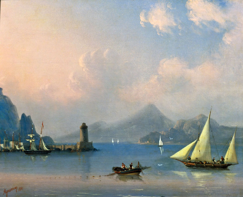Ivan Constantinovich Aivazovski. Sea Strait with the lighthouse