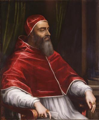 Себастьяно дель Пьомбо. Портрет папы Клемента VII