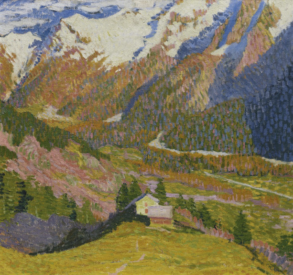 Giovanni Giacometti. A lonely house in the mountains