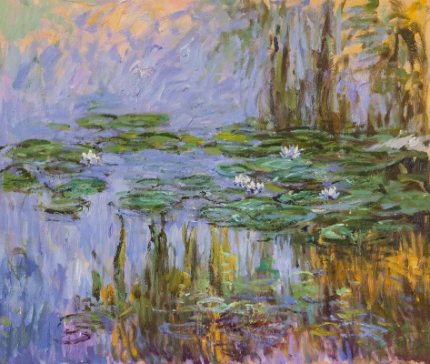 Savely Kamsky. Water Lilies, N24, a copy of Claude Monet's painting
