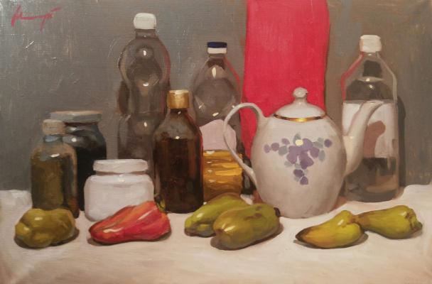 Nikita Igorevich Maksymchuk. Still life with peppers